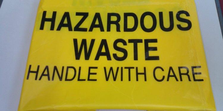Hazardous Waste Yellow Plastic Bag, Hazardous Waste Yellow Plastic