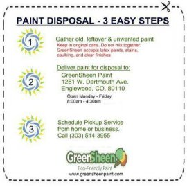 where to dispose of paint in Thornton
